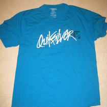 Men's Aqua Size Slim Large Quicksilver T Shirt Photo