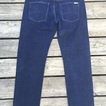 Men's Armani Exchange A/x Dark Blue Jeans Tag Size 34s J16 Straight Actual 36/30 Photo