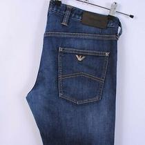 Men's Armani Slim Fit Jeans in Faded Dark Blue W34 L34 Photo