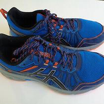 Men's Asics Gel-Venture 7 Trail Running Shoe Electric Blue/sheet Rock Extra Wide Photo