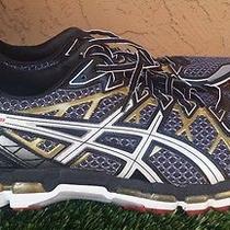 Men's Asics Kayano 20 Black/gold Running Shoes Size 12 Extra Wide Photo