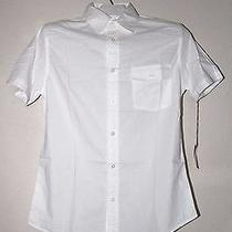 Men's Athletic Fit Short Sleeve Shirt White 100% Cotton - Sizes Photo