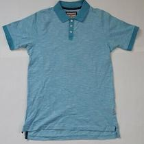 Men's Baby Blue Striped White Short Sleeve Shirt by hudson&barrow Nyc-Size Small Photo