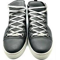 Men's Balenciaga Casual Shoe Sneaker Arena High Top U.s Size 11.5 Black Photo