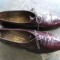 Men's Bally of Switzerland Brown Leather Lace Up Dress Shoes 13d Career Nice Photo