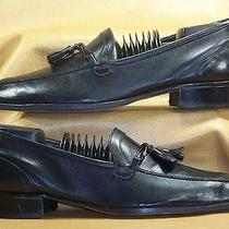 Men's Bally of Switzerland Richard Black Glove Leather Tassel Loafers Size 8 M Photo