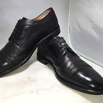 Men's Bally Prize Black Leather Deerskin Cap Toe Oxford 11.5 M Italy - 0168 Photo