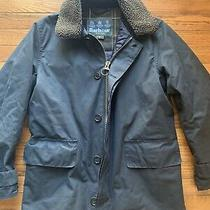 Mens Barbour Arding Waxed Quilted Jacket Dark Navy  Sz Small Photo