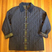 Men's Barbour Blue Classic Eskdale Barn Jacket Size Xs (30-32) Made in England  Photo