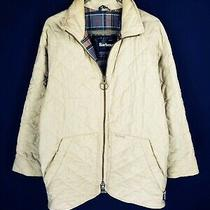 Men's Barbour D917 Flyweight Jacket Quilted Coat Casual Beige Size - M Photo
