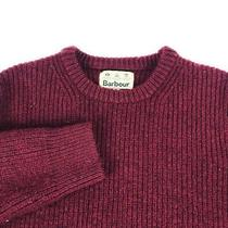 Men's Barbour Sweater Wool Cherry Red Jumper Pullover Coat Size / Xl-2xl Photo