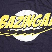 Men's Big Bang Theory  Sheldon Cooper Bazinga T-Shirt Navy Blue Size Xl Tee Tv Photo