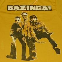 Men's Big Bang Theory T Shirt M Bazinga Flash Sign Tv Funny American Sitcom Photo