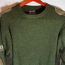 Men's Billabong Army Green Sweater Medium Acrylic and Wool  Photo