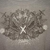 Men's Billabong Gray Skull Graphics Long Sleeve T-Shirt - Size L Lightening Bolt Photo