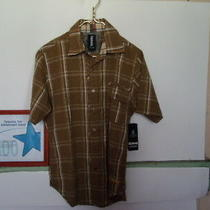 Men's Billabong Shirt Slim Fit Size Small Color Brown and White New Photo