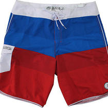 Men's Billabong Striker Stack Board Shorts Red Size 36 Nwt Photo