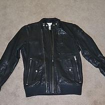 Men's Black Diesel Leather Motorcycle Jacket  Photo
