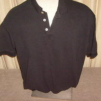 Men's Black Gap Casual Short Sleeve Polo Shirt Size L Photo