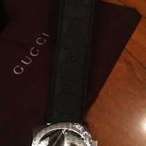 Men's Black Gucci Belt 95 Cm Guccissima Photo