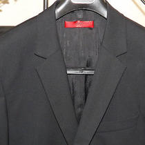 Men's Black Hugo Boss Red Label Suit 40s 40 Short - Pants Have Been Shortened Photo