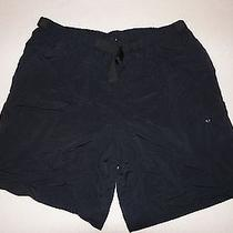 Men's Black Patagonia Outdoor/athletic/hiking Shorts Size L Nylon Photo