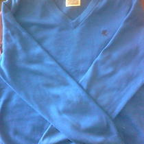 Men's Blue Express v-Neck Xl Sweater Photo