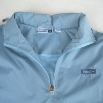 Men's Blue Puma Jacket Windbraker Size Medium Free Shipping Photo