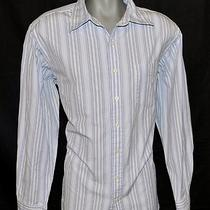 Men's Blue Striped  Gap  Classic Fit Button Down Shirt - Xl Photo