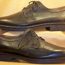 Men's Bostonian Elements Black Pebbled Calf Skin Leather Oxfords Size 9 1/2 M Photo