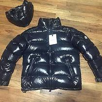 Men's Brand New Moncler 'Maya' Lacquered Down Jacket With Tags Size 4 Photo