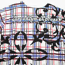 Men's Brooklyn Express Top Size Xl White Graphic Print Short Sleeve Cotton Photo