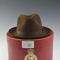 Mens Brown Epsom Fedora Hat W Box - Us Sz 7 1/8 Uk 7 Christys London Pr1 Photo