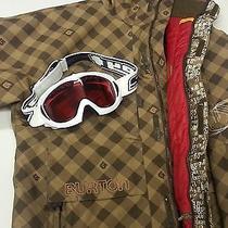 Men's Burton Snow Boarding Jacket With Spy Goggles Photo