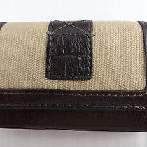 Men's Business Credit Card Case Brown Leather Khaki Tommy Bahama 4