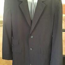 Mens Calvin Klein Black Pinstripe Blazer Jacket Sport Coat Size Medium Photo