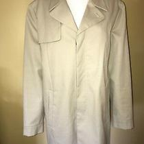 Mens Calvin Klein Trench Coat Jacket Tan Beige Medium Great Photo