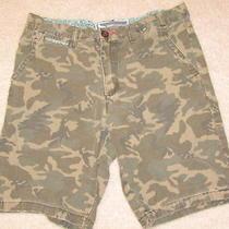 Men's Camouflage Shorts Modern Amusement Parker Chino Size 32 Photo