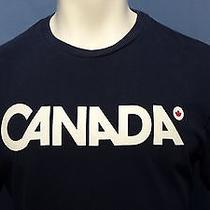 Men's Canada Olympics T-Shirt Hudson's Bay Co Blue Medium Cotton Free Shipping Photo