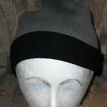 Men's Carbon Elements Black/olive Green Reversible Beanie Hat/one Size Fits Most Photo