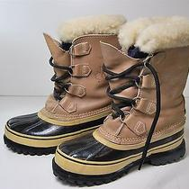 Men's Caribou Sorel Winter Leather/wool Insulated Hiking Boots Size 7 Photo