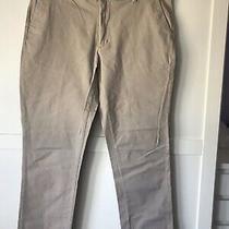 Men's Chaps Pants Size 40 X 32 Hudson Tan Custom Fit Flat Front Photo