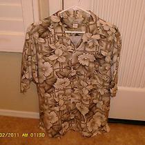 Men's Classic Tommy Bahama Shirt 100% Silk -