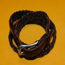 Men's Coach British Tan Color Genuine Braided Leather Belt Size 38/95cm.. Photo