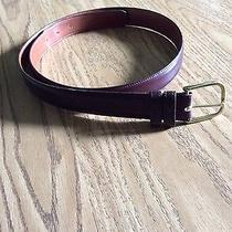 Men's Coach Burgundy Calfskin  Leather Belt Brass Buckle Size 38/ 95cm Made Usa Photo
