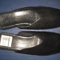 Men's Cole Haan Alessa Black Lamb Skin Leather Slipper Shoes Sz 10 New W/o Box Photo