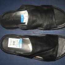 Men's Cole Haan Black Leather Slipper Clog Shoes Sz 10 New W/o Box Photo