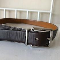 Men's Cole Haan  Brown Genuine Leather Belt Size 32/80cm.. Photo