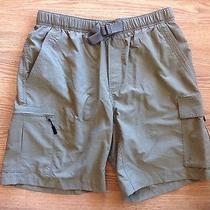 Men's Columbia Cargo Swim Trunks Fishing Shorts Size M Green Photo