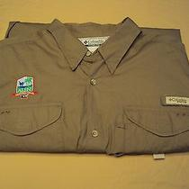 Men's Columbia Pfg Camel Long Sleeve Fishing Shirt Xl  Photo